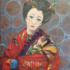 Geisha with Ball