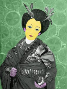 Geisha with ball - pop style